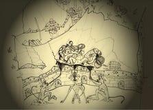 A essência da guerra ilustração royalty free