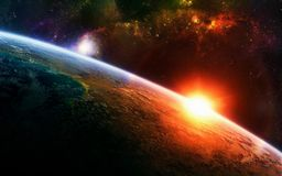 A essência do espaço ilustração stock