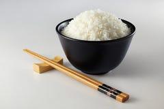 Ess-Stäbchen und Reis Lizenzfreie Stockfotos