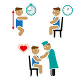 Essai cardio-vasculaire d'enfants Image libre de droits