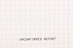 Essai d'électrocardiogramme Image libre de droits