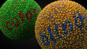 Essai d'achromatopsie avec des sphères illustration 3D Photographie stock libre de droits