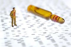 Essai d'ADN Photos libres de droits