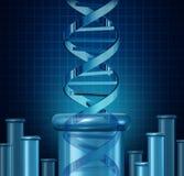 Essai d'ADN illustration stock