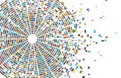 Essai d'ADN infographic Carte d'ordre de génome, architecture de chromosome et vecteur de données de ordonnancement génétique d'a illustration stock