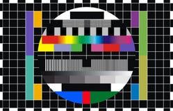 Essai d'écran de TV Images libres de droits