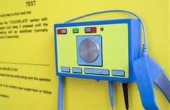 Essai d'une électricité électrostatique Photos stock