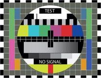 Essai de couleur de TV Photographie stock libre de droits