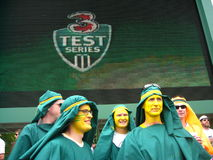essai de foule de cricket de costumes Photo stock