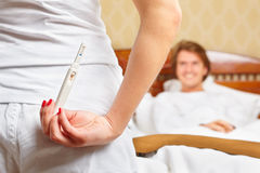 Essai de grossesse Photos libres de droits