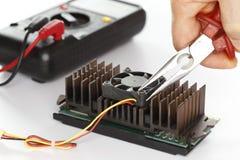 Essai de l'électricité Images stock