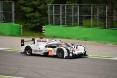 Essai de l'hybride 2015 de Porsche 919 à Monza Photos stock