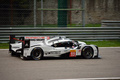 Essai de l'hybride 2015 de Porsche 919 à Monza Photo libre de droits