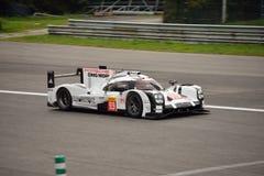 Essai de l'hybride 2015 de Porsche 919 à Monza Image libre de droits