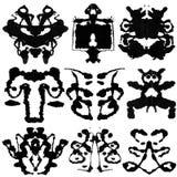 Essai de neuf Rorschach image stock
