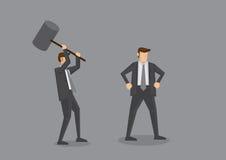 Essai de tuer avec Mallet Concept Cartoon Vector Illustration Photographie stock libre de droits