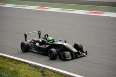 Essai de voiture de formule de Hakim Benferhat Dallara F312 à Monza Photos stock