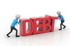 essai des personnes 3d pour éviter la dette Photographie stock