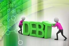 essai des personnes 3d pour éviter la dette Photos libres de droits