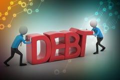 essai des personnes 3d pour éviter la dette Images stock