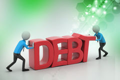 essai des personnes 3d pour éviter la dette Image libre de droits