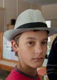 Essai du chapeau Images stock