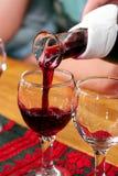 Essai du vin en Hongrie Images libres de droits