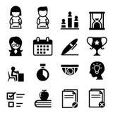 Essai, examen, icône d'enquête Image stock