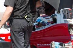 Essai ouvert de voiture de course de roue de voiture d'Indy Photos libres de droits