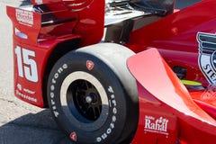 Essai ouvert de voiture de course de roue de voiture d'Indy Image libre de droits