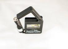 Essai portatif de batterie photographie stock libre de droits
