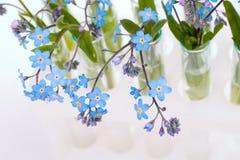 Essai-tubes avec des fleurs image libre de droits