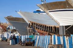 Essaouira港口码头 免版税库存照片