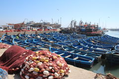 Essaouira港口,摩洛哥 库存照片
