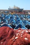 Essaouira港口,摩洛哥 图库摄影