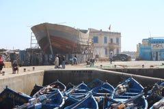 Essaouira港口,摩洛哥 免版税库存照片
