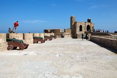 Essaouira的人们 免版税库存照片