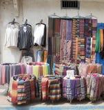 Essaouira的摩洛哥街道界面 库存照片