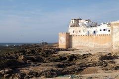 Essaouira筑了堡垒于城市 免版税库存图片