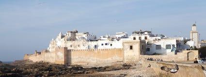Essaouira筑了堡垒于城市 免版税库存照片