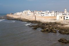 Essaouira筑了堡垒于城市 库存图片