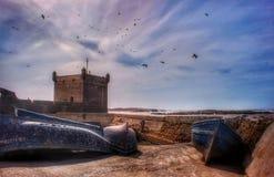 Рыбный порт Essaouira стоковое изображение