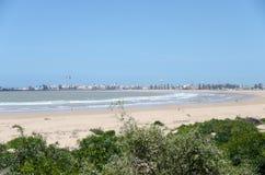 Essaouira beach. Essaouira sandy beach in Morocco Royalty Free Stock Photos