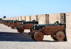 Essaouira Canon Zinnen Lizenzfreie Stockbilder