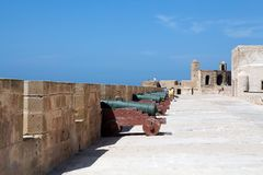 Essaouira city wall fortifications Royalty Free Stock Photo