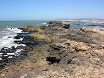 Essaouira, costa do Oceano Atlântico em Marrocos Fotos de Stock Royalty Free