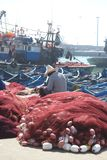 Essaouira Harbor, Morocco royalty free stock photo