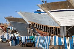 Essaouira harbour docks Royalty Free Stock Photos