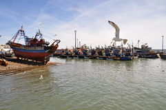 Essaouira harbour in Morocco Royalty Free Stock Photography