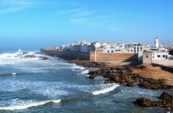 Essaouira jest portem na Atlantyckim wybrzeżu w Maroko i miastem Obraz Stock